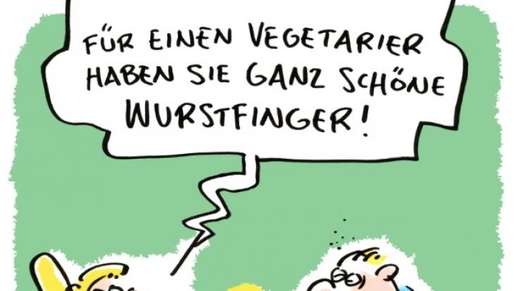 Haben Vegetarier Wurstfinger? (Foto)