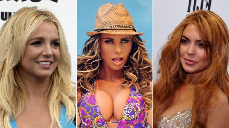 Britney Spears, Katie Price und Lindsay Lohan: Sie alle haben eine lange Liste an Verflossenen.