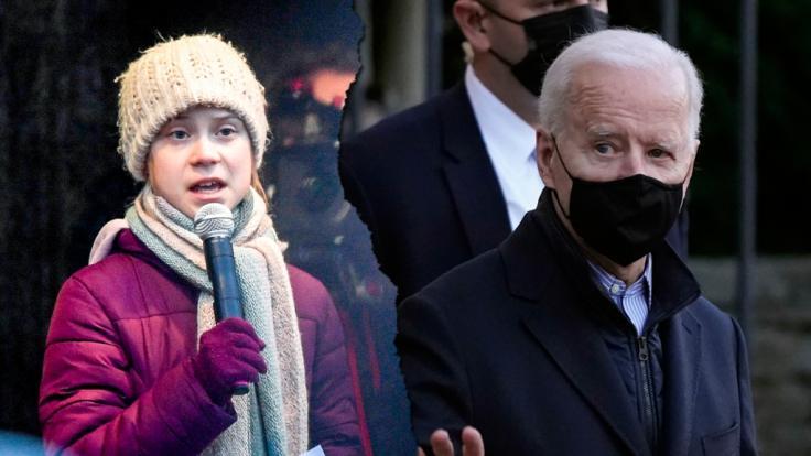 Greta Thunberg kritisiert die bisherige Klimapolitik von Joe Biden. (Foto)