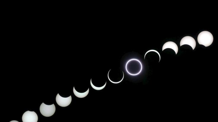 Ringförmige Sonnenfinsternis 2005 über Portugal (Foto)