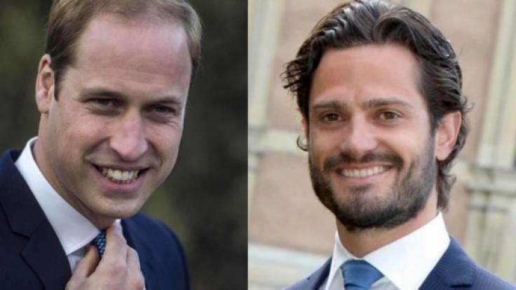Sind nicht so makellos wie es scheint: Prinz William und Prinz Carl Philip von Schweden. (Foto)