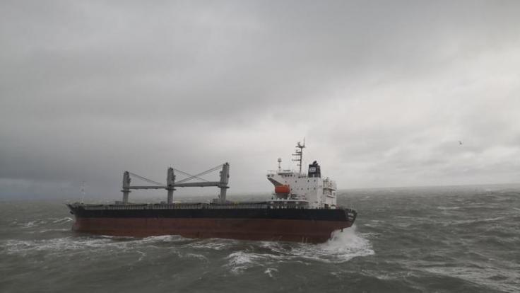In der Nordsee ist eine junge Frau auf einem Containerschiff über Bord gegangen. (Foto)