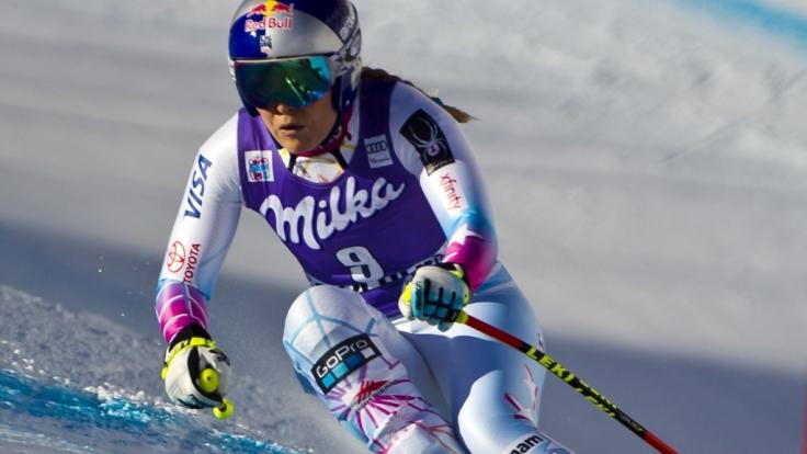 Bei der Abfahrt der Damen im Ski alpin Weltcup 2018 in Cortina d'Ampezzo dominierte die US-Amerikanerin Lindsey Vonn. (Foto)
