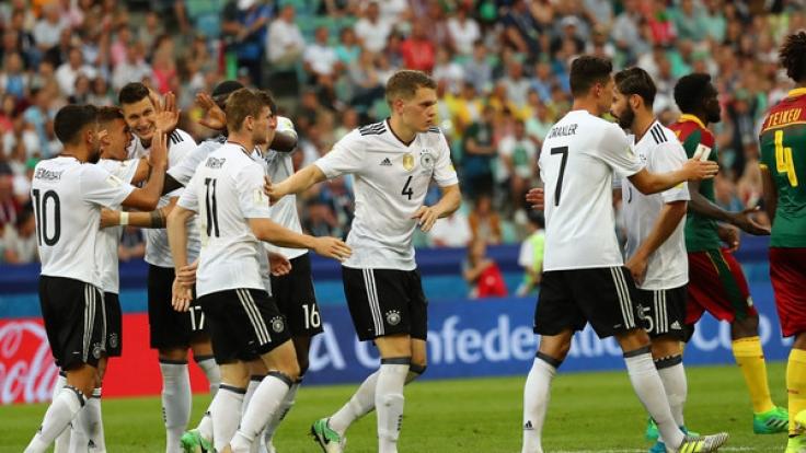 Die deutsche Mannschaft trifft im Halbfinale des Confed Cup 2017 auf Mexiko.