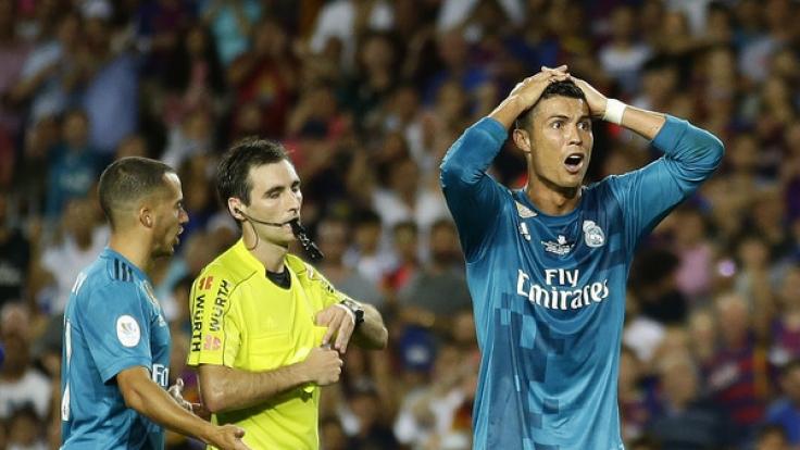 Cristiano Ronaldo wurde vorzeitig zum Duschen geschickt.