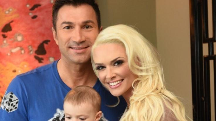 Daniela Katzenberger mit ihrem Mann Lucas Cordalis und der gemeinsamen Tochter Sophia.
