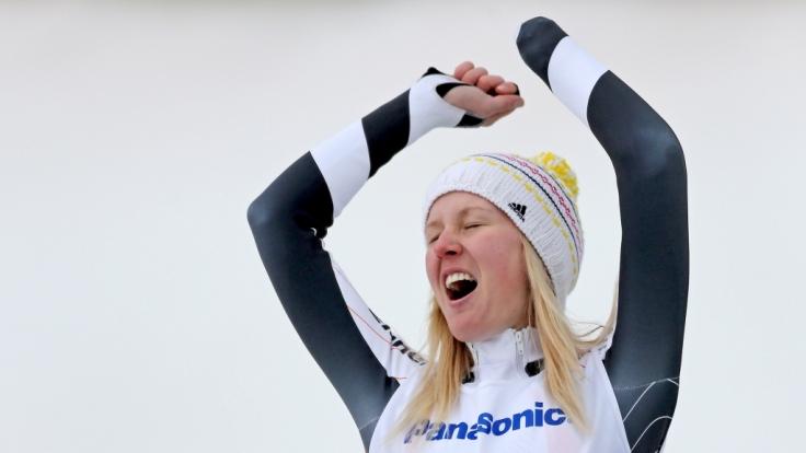 Bei den Paralympischen Spielen in Sotschi 2014 hatte Andrea Rothfuss allen grund zu jubeln.