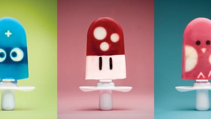 Fliegenpilz am Stiel? Mit dem Zoku Quick Pop Maker werden die fantasievollsten Eiskreationen Wirklichkeit.