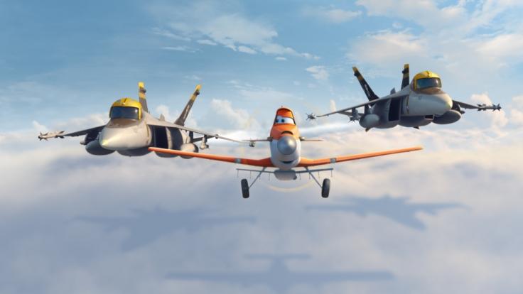 Das Sprühflugzeug Dusty will es mit den ganz schnellen Flugzeugen aufnehmen - ob ihm dies gelingt? (Foto)