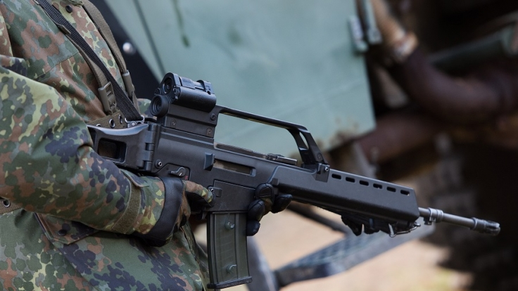 Probleme bei der Funktion des Sturmgewehrs G36. (Foto)