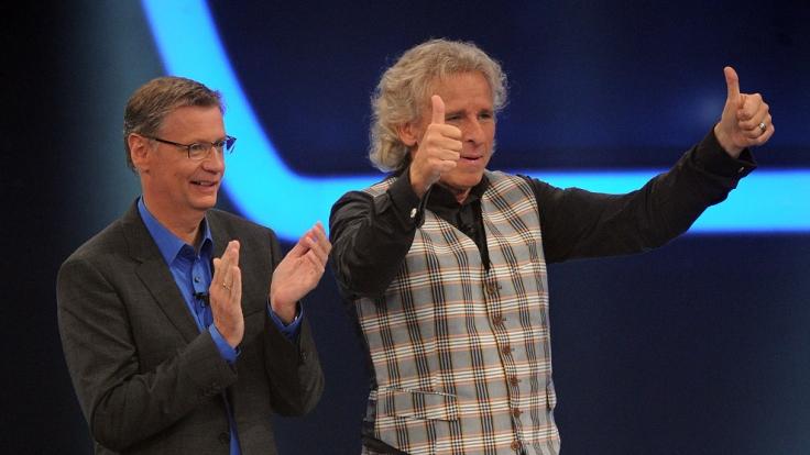 Günther Jauch (links) und Thomas Gottschalk haben nicht nur mit ihren Moderatorenjobs ein Vermögen verdient. (Foto)