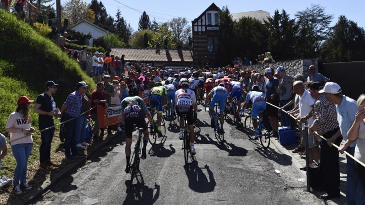 Beim Flèche Wallonne 2019 müssen die Radsportler195,5 Kilometer zurücklegen.