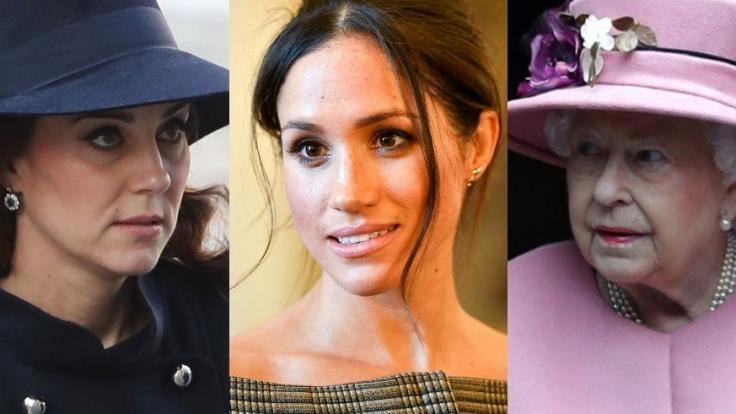 Kate Middleton, Meghan Markle und Queen Elizabeth II. fanden sich in dieser Woche allesamt in den Royals-News wieder. (Foto)