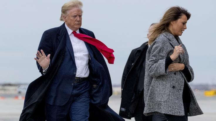 Melania Trump und US-Präsident Donald Trump sind seit 2005 verheiratet. (Foto)