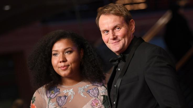 Devid Striesow und seine Frau Ines Ganzberger bei der feierlichen Eröffnung der Berlinale 2019. (Foto)