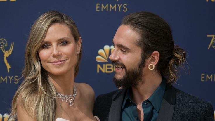 Heidi Klum und Tom Kaulitz schmusen sich durch den Winter.