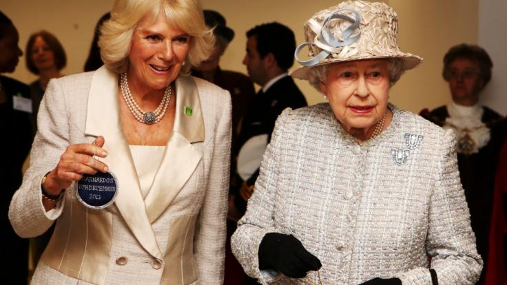 Queen Elizabeth II. und Herzogin Camilla scheinen sich bestens zu verstehen. (Foto)
