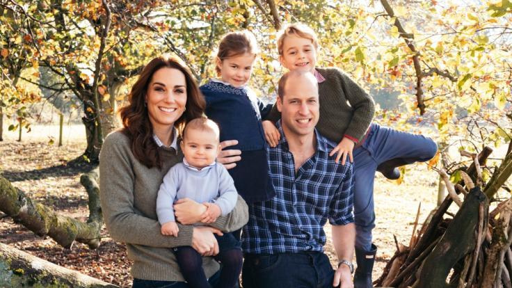 Herzogin Kate und Prinz William mit ihren Kindern.