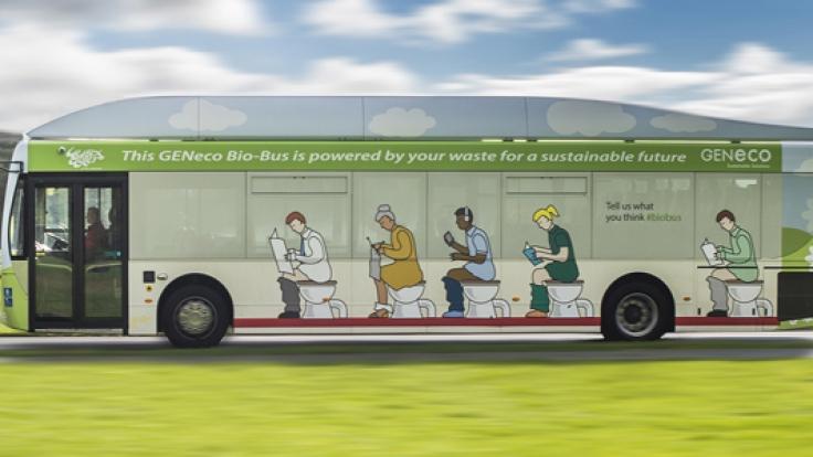 Dieser Bus wird mit Kot betrieben.