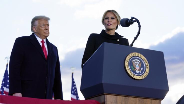 Es wird immer noch über eine Trennung von Melania und Donald Trump spekuliert. (Foto)