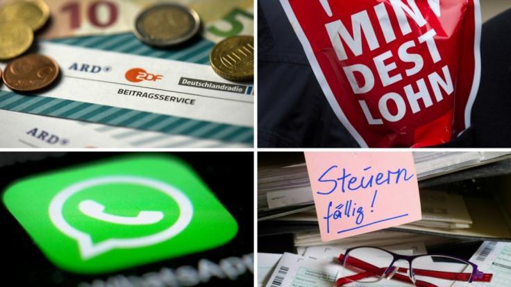 Ab Mai 2018 gelten zahlreiche neue Gesetze, die unter anderem die Nutzung von WhatsApp, den Mindestlohn für Handwerker oder die Rundfunkgebühr betreffen. (Foto)