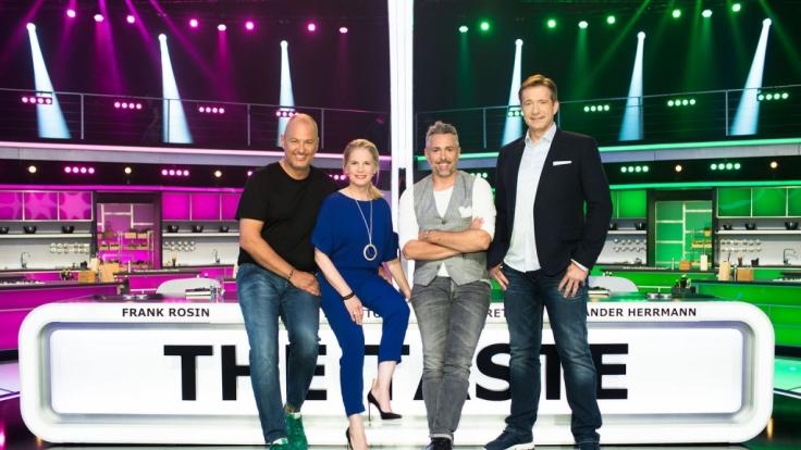"""Die Coaches bei """"The Taste"""": Frank Rosin, Cornelia Poletto, Roland Trettl und Alexander Herrmann (von links). (Foto)"""