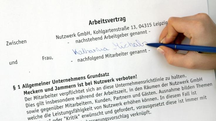 Befristete Arbeitsverträge (Foto)