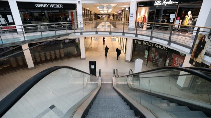 Gähnende Leere statt munteres Gedrängel: Für den deutschen Einzelhandel bedeutet der Corona-Lockdown zu Jahresbeginn 2021 einen herben Schlag. (Foto)