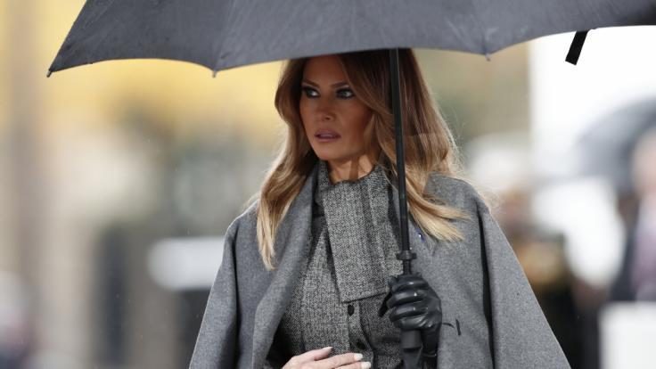 Melania Trump hält bewusst Abstand zu ihrem Mann Donald Trump. (Foto)