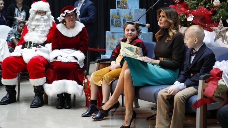 Kam nicht nur gut an: Melania Trump im Kinderkrankenhaus. (Foto)