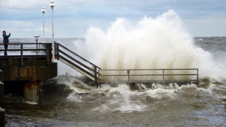 Norddeutschland droht eine Sturmflut. (Foto)