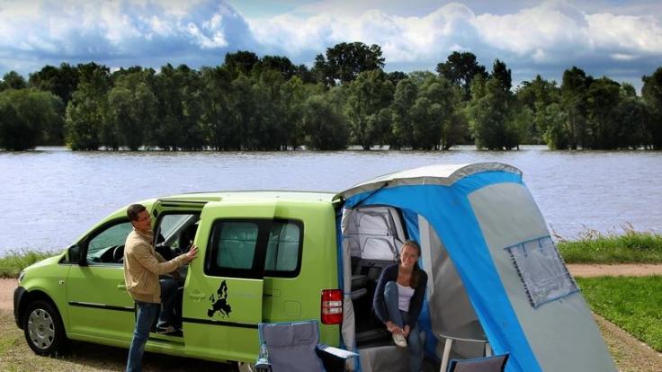Camping hinterm Kombi - Heckzelte für den Pkw (Foto)