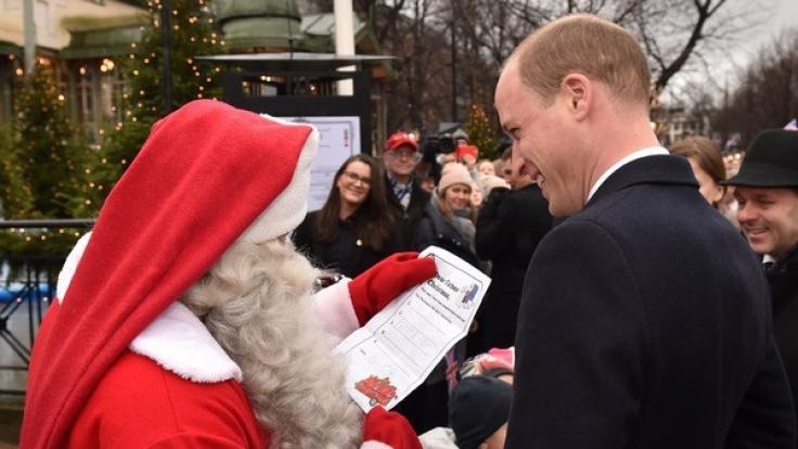 Prinz William hat Georges Wunschzettel beim Weihnachtsmann abgegeben.