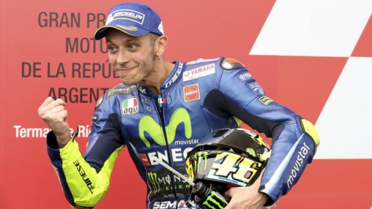 Valentino Rossi vom Team Honda dreht am Wochenende beim GP von Spanien in Jerez seine Runden. (Foto)