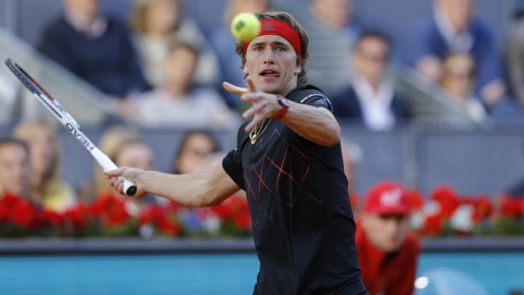 Alexander Zverev startet nach seinem Sieg beim Tennis-Turnier in Madrid auch bei den ATP Rome Masters 2018.
