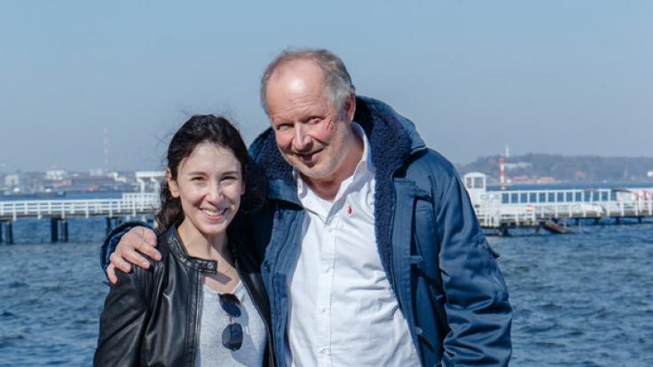 Sibel Kekilli und Axel Milberg als Tatort-Kommissare in Kiel.