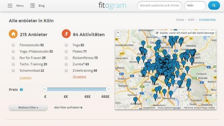 Cardio-, Krafttraining oder Yoga: Fitogramm hilft bei der Suche nach dem passenden Fitnessstudio.
