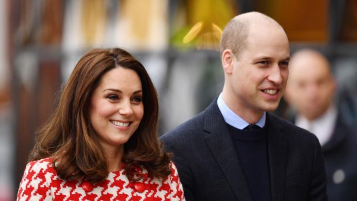 Die stolzen Eltern: Kate Middleton und Prinz William.