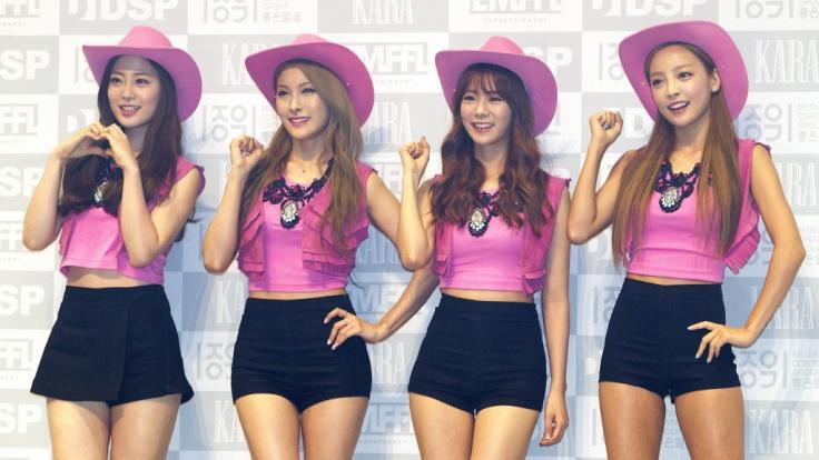 Die südkoreanische Girlband Kara mit ihren Stars Youngji, Gyuri, Seungyeon und Goo Hara (v.l.n.r.). (Foto)