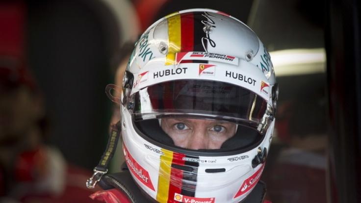 Ferrari-Fahrer Sebastian Vettel aus Deutschland bereitet sich in Montreal auf das 2. Freie Training vor.