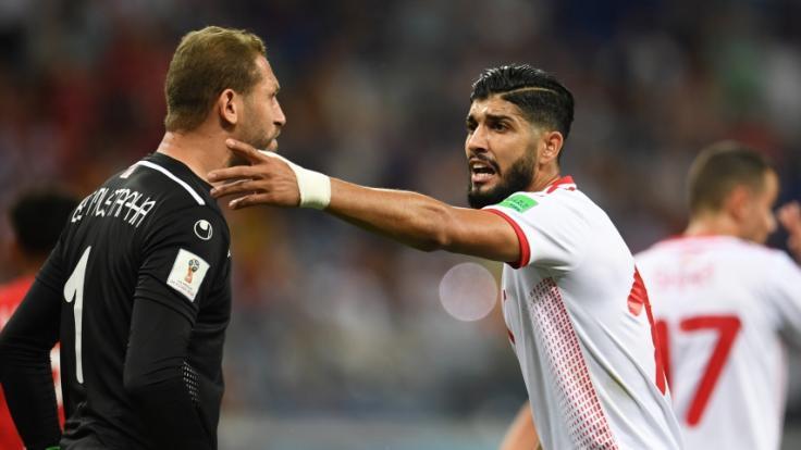 Beim WM-Spiel England - Tunesien mussten sich die Spieler auch gegen Mückenschwärme wehren.