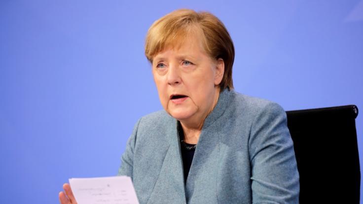 Angela Merkel trifft sich heute erneut mit den Ministerpräsidenten der Länder. (Foto)