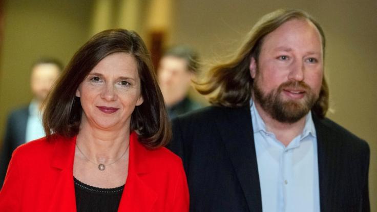 Anton Hofreiter, Fraktionsvorsitzender Bündnis 90/Die Grünen, und Katrin Göring-Eckardt, Fraktionsvorsitzende Bündnis 90/Die Grünen. (Foto)