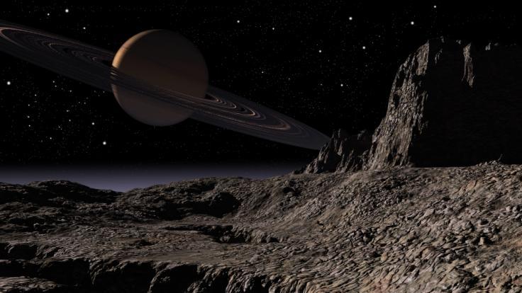 """Wissenschaftler der Nasa haben auf dem Saturnmond Titan """"fremdartige Kristalle"""" entdeckt. (Foto)"""