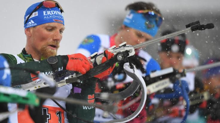 Biathlet Erik Lesser (li.) wird bei der Biathlon-WM 2020 in Antholz an den Start gehen.