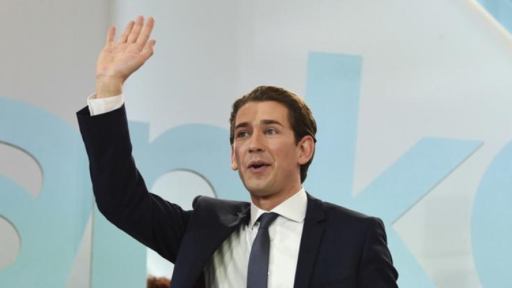 Sebastian Kurz geht nach den Wahlen in Österreich als großer Sieger hervor. (Foto)