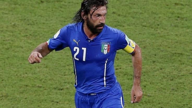 Geniale No-Look-Pässe: Italiens Stratege Andrea Pirlo.