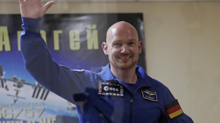 Der deutsche Astronaut Alexander Gerst vor seinem Flug ins All Anfang Juni 2018.