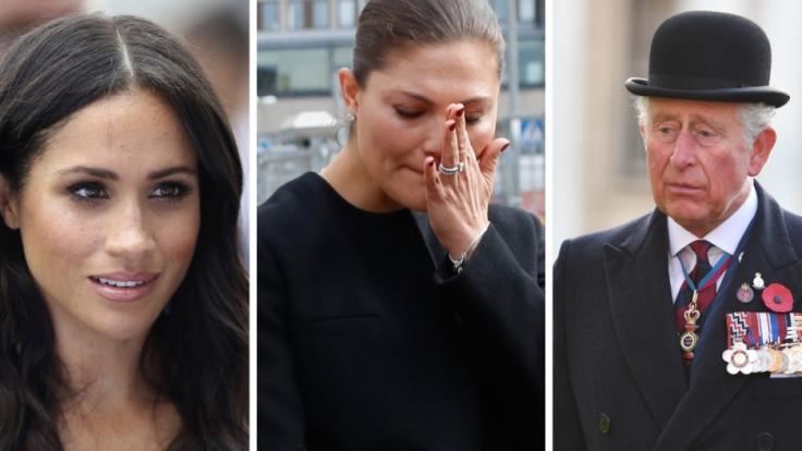 Meghan Markle, Prinzessin Victoria und Prinz Charles landeten in den Schlagzeilen. (Foto)