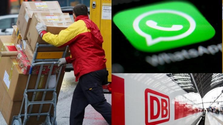 Ab Dezember 2019 gelten unter anderem neue Gesetze für Paketboten. Auch bei der Deutschen Bahn, WhatsApp und YouTube gibt es einige Änderungen. (Foto)